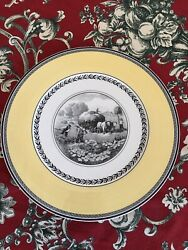 """Set Of 10 Villeroy And Boch Audun Ferme 12"""" Underplates Mint Condition"""