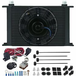 25 Row 10an Engine Trans-mission Oil Cooler Fan Adjustable Controller Switch Kit