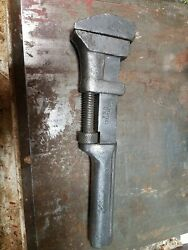 Pexto Solid Steel Usa 8 Inch Monkey Wrench Peck Stow And Wilcox