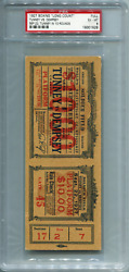 1927 Boxing Long Count Tunney Jack Dempsey Full Boxing Ticket Psa 6 Best Grade