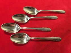 Lot Of 4 Sterling Teaspoons In The Lyric Pattern From Gorham Silver No Monogram