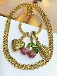 Vintage Juicy Couture Retired Limited Edition Charms Gold Tone Necklace Set Of 5
