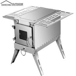 Danchel Wood Stove Outdoor Stainless Steel Portable Pipe Multipurpose Bbq Grill