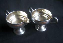 Sterling Silver Kenilworth Cream And Sugar - Excellent Condition - Must See