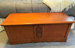 Vintage Lane Cedar Hope Chest - Raised Maple Leaf Accent - Made In 1941