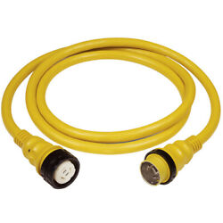 Marinco 6152spp 50amp 125/250v Shore Power Cable 50and039 Yellow