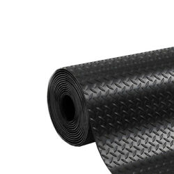 Checker Rubber Roll Mats | Flooring Matting For Garages Gym And Cars