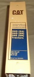Cat Caterpillar D6d Sa Sr D6e Sr Tractor Dozer Service Shop Repair Manual Book