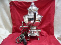 Vintage Manning-bowman Glass Top Silver Plated 9 Cup Percolator Coffee Pot 3799