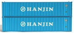Jtc Model Trains 405520 N Hanjin 40' Corrugated Side Container Pack Of 2