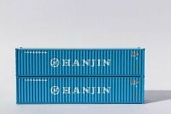 Jtc Model Trains 405320 N Hanjin 40' Standard Corrugated Container Pack Of 2