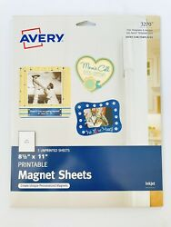 Avery Printable Magnet Sheets 8.5andrdquox11andrdquo Inkjet 3270 Brand New