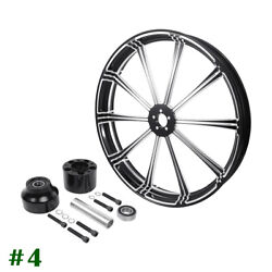 30'' Cnc Front Wheel Rim Single Disc Wheel Hub Fit For Harley Touring Non Abs