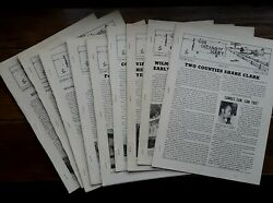 9 Vintage Local Farm News Magazines. The Meadow Mart. Wooster, Oh. 1971-1974
