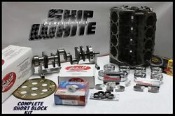 Sbc Chevy 434 Dart Short Block Forged Flat Top 4.155 Pistons Scat Crank And Rods