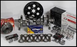 Sbc Chevy 434 Assembly Scat And Wiseco Flat Top 4.155 Pistons 2pc Rms-350 Mains