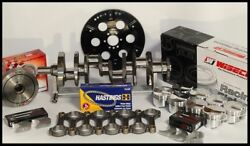 Sbc Chevy 427 Assembly Scat And Wiseco +10cc Dome 4.125 Pistons 2pc Rms-350 Mains