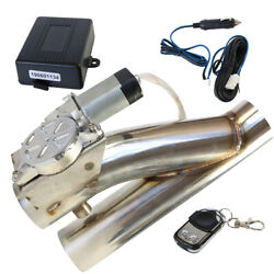 2.5 Inch 63mm Electric Dual Y Pipe Exhaust Control E-cut Out Valve With Remote