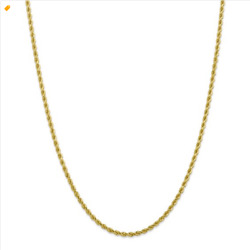 Leslie's 10kt Gold 2.75mm Diamond-cut Rope Chain 20 Inch 12.22 Grams New In Box
