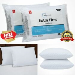 Extra Firm Pillow Queen 2pcs. 200TC Cotton Bed Support Neck Head Hypoallergenic