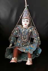 Antique Ornate Asian Hand Crafted Burmese Diety Marionette Yoke Thandeacute Puppet Doll