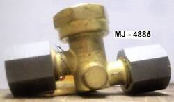Walworth Co. - 1/2 Brass Check Valve With Steel Unions - P/n 43300004 Nos