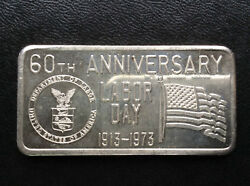 1973 Great Lakes Mint Labor Day Silver Art Bar Glm-5 D9534