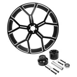 30and039and039x3.5and039and039 Front Wheel Rim Single Disc Wheel Hub Fit For Harley Touring 08-21 19