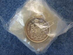 1962 Canada Fifty Cents Silver Proof-like Roll Of 20 Coins In Cellophane B9169