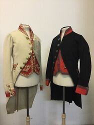 19th Century Servantand039s Livery - One White And One Dark Blue. Price Is For One.andnbsp