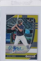 2020 Prizms Gold Autographs /10 Rc Nick Yorke Boston Red Sox Auto Draft E6874