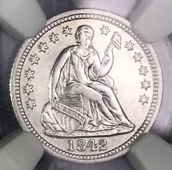 1842-o Seated Silver Half Dime Ngc Au Details Rare Key Date Collector Coin