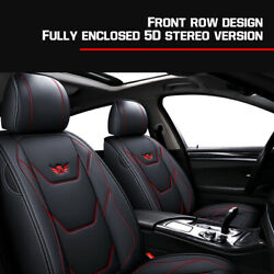 5-seat Car Seat Cover Full Front+rear Cushion Pu Leather 4 Seaons For Toyota