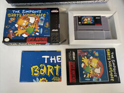 Snes The Simpsons Bart's Nightmare Super Nintendo Game, Complete In Box Tested