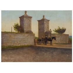 Old City Gatest.augustine Florida Painting On Photograph After John Stoddard
