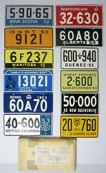 1953 General Mills Cereal Canada Canadian Province Bicycle License Plate All 12