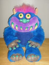 2001 Toymax My Pet Monster 22 Talking Plush Toy Doll -- Tested And Works