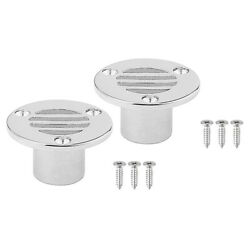 2pcs Floor Drain Stainless Steel Boat Ship Yacht Plumbing Fitting 22mm