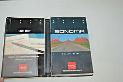 Gmc Sonoma Owners Manual Users Guide Book Authentic Oem Square Body Style 1990
