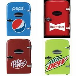 6 Can Cooler/mini Fridge Office Personal Portable Car Or Wall Plug In Compact