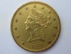 1841 Liberty Gold Eagle 10 Dollar Nice Coin Rare Early Date 63131 Mintage