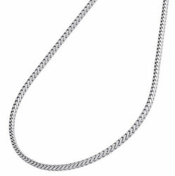 Real 10k White Gold Franco Box Chain Closed Link 2mm Necklace 20and039and039 20 Inch Mens