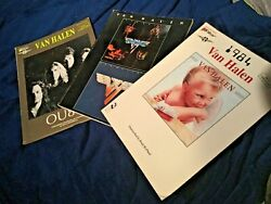 Van Halen- 3 Used - Song Books - Guitar- Used - Some Wear See All Pics