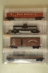 N Scale Bn Merger Pack 5 4-pack - Gn, Spands, Np And Cbandq - Micro-trains 23252