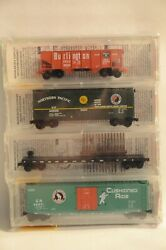 N Scale Bn Merger Fallen Flags 4-pack - Cbandq, Np, Spands And Gn - Micro-trains 21212