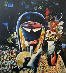 Charles Blackman Alice Closing Up... Signed Limited Edition Print 100cm X 90cm