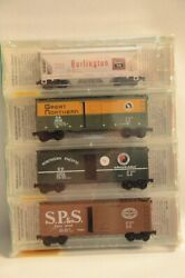 N Scale Bn Merger Fallen Flags 4-pk - Cbandq, Gn, Np And Spands - Micro-trains 20226-2