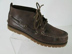 Sperry Top Sider Chukka Boots Mens Sz 9 Brown Leather Mini Lug Shoes Sts14113