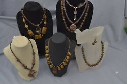 Hand Crafted Genuine Semiprecious Stone Necklaces/chokers Natural Earth Tones