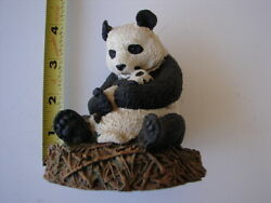 Aus-ben Studios Giant Panda And Baby Hand Crafted Cold Cast Bronze 1989 Retired